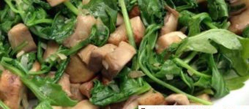 Салат с грибами вегетарианский