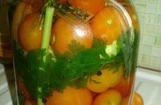 Рецепт: Маринованные помидоры — на зиму