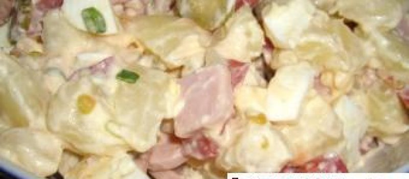 Салат из ветчины и картофеля