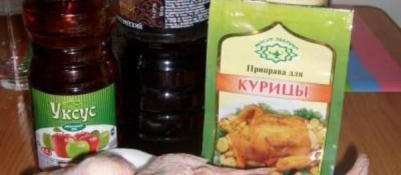 Рецепт: Крылышки куриные запеченные в духовке — маринованные