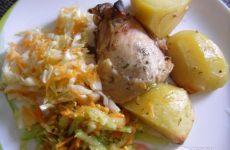 Рецепт: Курица маринованная, запеченная в рукаве — В медово-горчичном маринаде