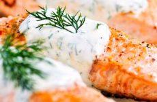 Лосось в нежном сливочном соусе с укропом, рецепт с фото