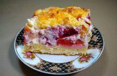 Торт с рикоттой и сливами, рецепт с фото и видео