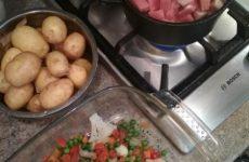 Рецепт: Рагу с мясом — «в духовке»
