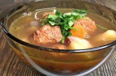 Суп с фрикадельками и красной фасолью, рецепт с фото и видео