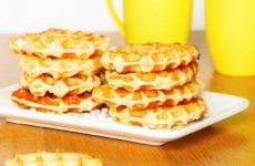Ванильные льежские вафли на свежих дрожжах, рецепт с фото