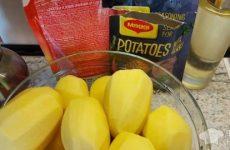Рецепт: Картофель запеченный с приправой для картофеля MAGGI +майонез — в духовке