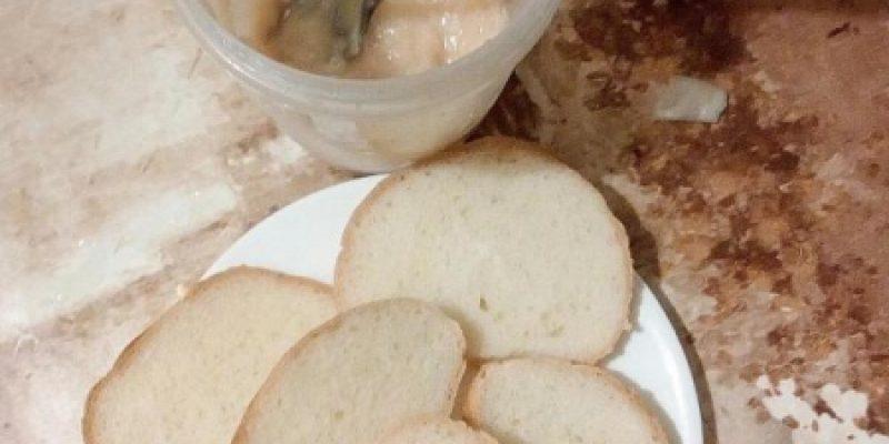 Рецепт: Чебуреки наизнанку — С ломтиком белого батона