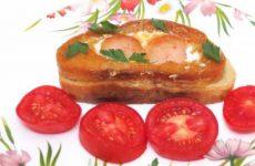 Яичница в хлебе.