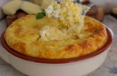 Рецепт: Сырное суфле — с сыром в духовке