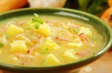 Рецепт: Суп капустняк по-польски — с квашеной капустой
