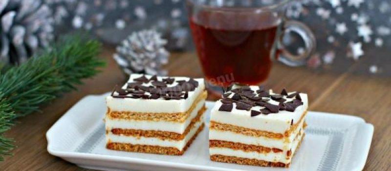 Рецепт: Торт «Сладкоежка» — «по-домашнему»
