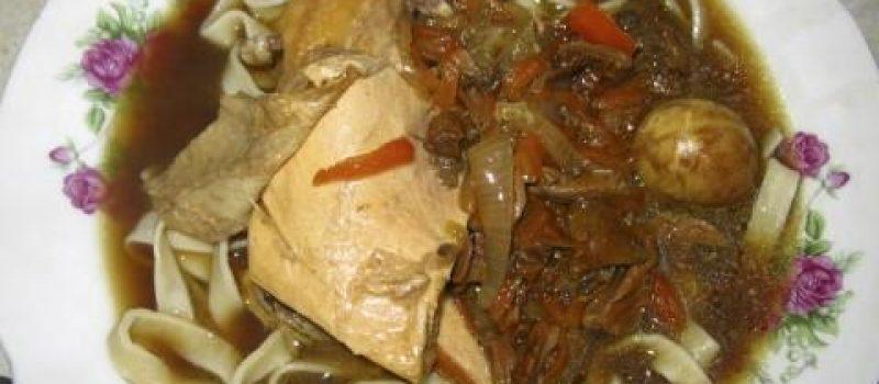 Курино-грибной суп-лапша