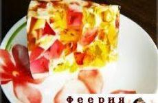 Желейный торт «Битое стекло»