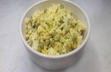 Салат Чайка с сыром, яйцами и зеленым горошком, рецепт с фото пошагово и видео