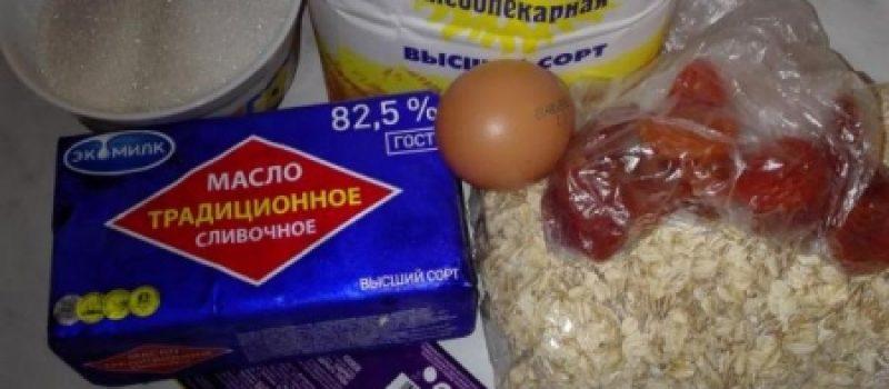 Рецепт: Овсяное печенье с шоколадом — С целыми хлопьями овсянки