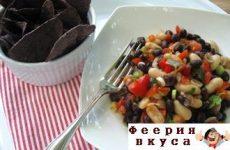 Постный фасолевый салат