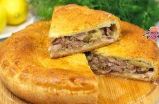 Вкуснейший пирог с мясом и картошкой в духовке (Невероятное тесто!)