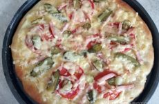 Рецепт: Пицца на кефире — С колбасой