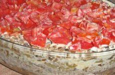 Рецепт: Салат с мясом — с мясом по-домашнему