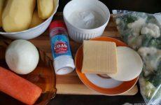 Рецепт: Гарнир из запеченных овощей — В сметане с сыром