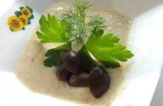 Рецепт: Грибной крем-суп — Изысканный суп из белых грибов