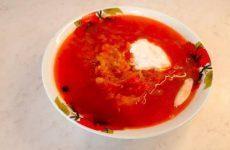 Рецепт красного борща