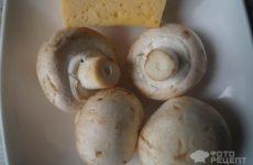 Рецепт: Шампиньоны с сыром — с укропом