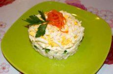 Салат с плавленым сыром и курицей