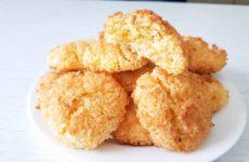 Кокосовое печенье из 3 ингредиентов за 15 минут