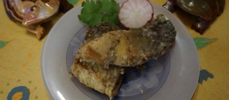 Рецепт: Жареный карп — «по-домашнему», с просчитанной калорийностью.