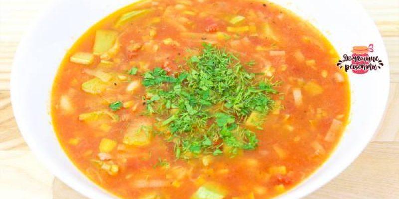 Диетический овощной суп «Ешь и худей»