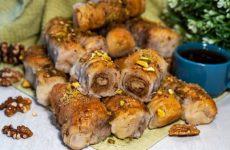Турецкая пахлава с орехами