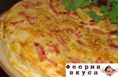 Закусочный торт «Сырное суфле»